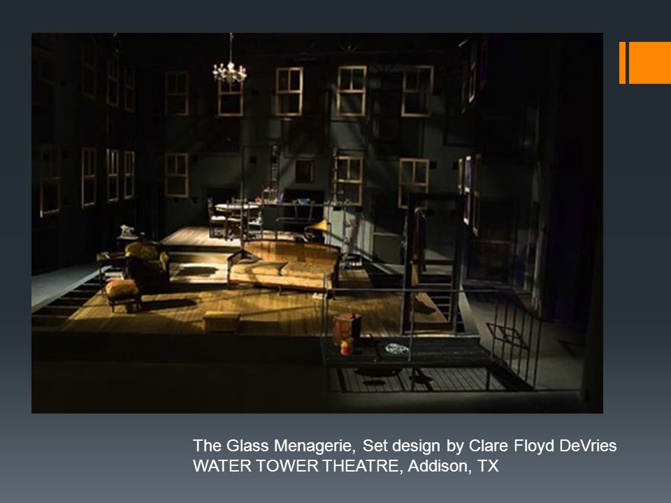 The Glass Menagerie, Set design by Clare Floyd DeVries WATER TOWER THEATRE, Addison, TX