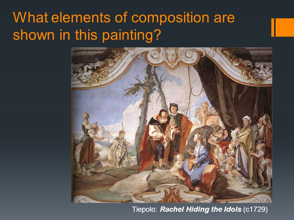 What elements of composition are shown in this painting