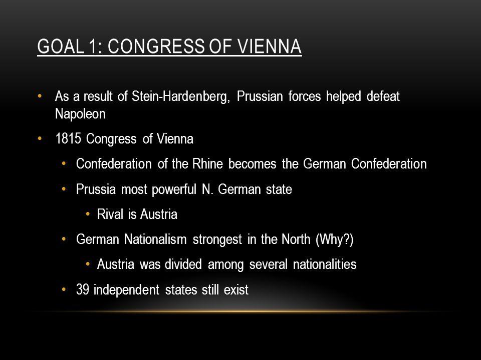 Goal 1: Congress of Vienna