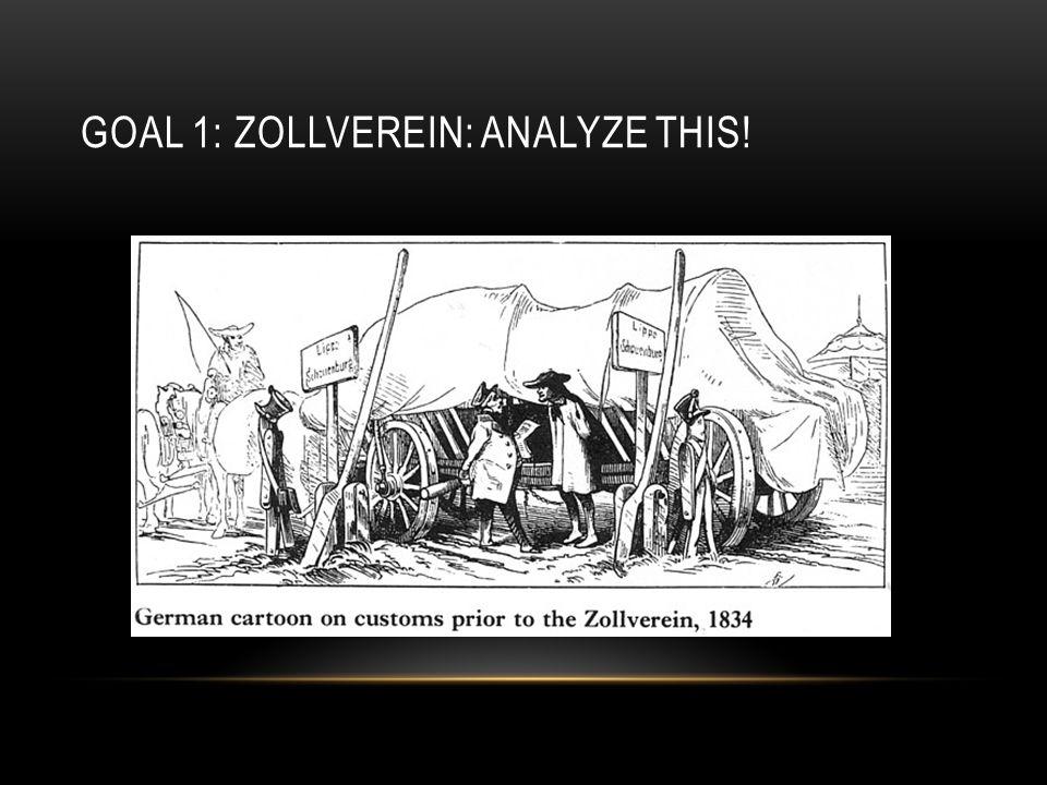 Goal 1: Zollverein: Analyze this!