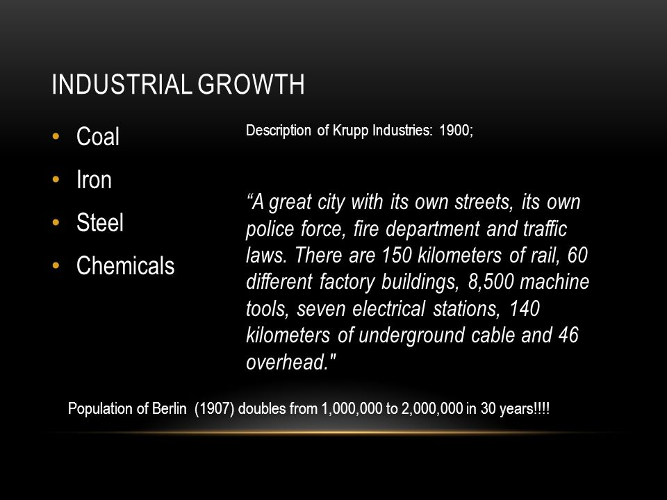 Industrial Growth Coal Iron Steel Chemicals