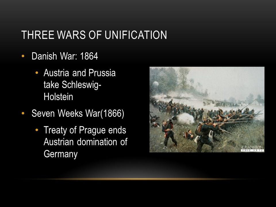 Three wars of unification