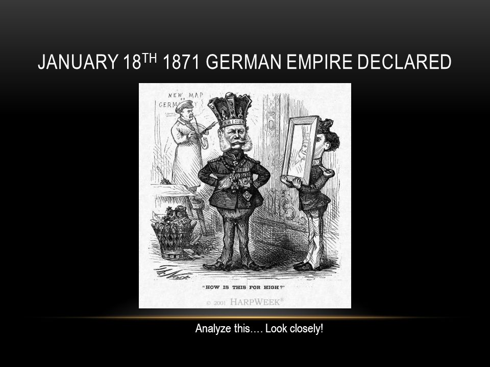 January 18th 1871 German Empire Declared