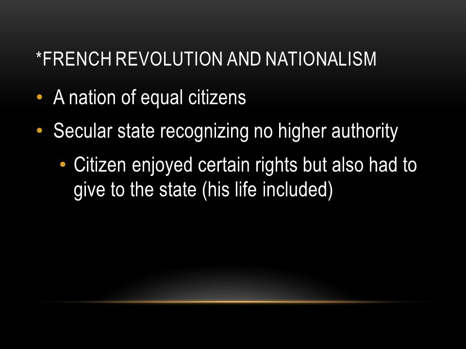 *French Revolution and Nationalism