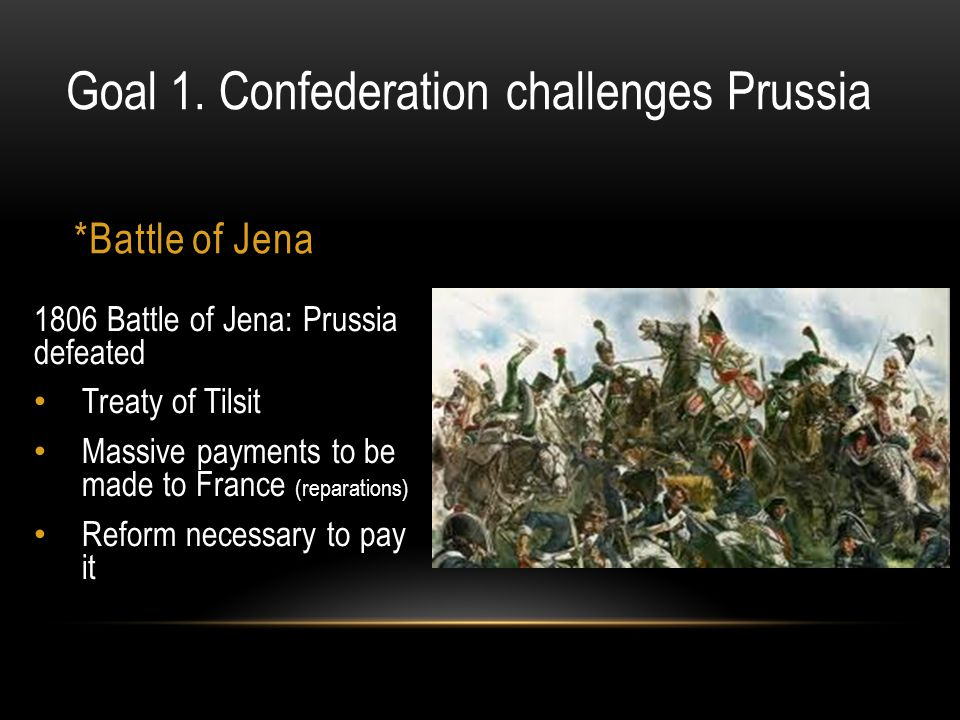 Goal 1. Confederation challenges Prussia