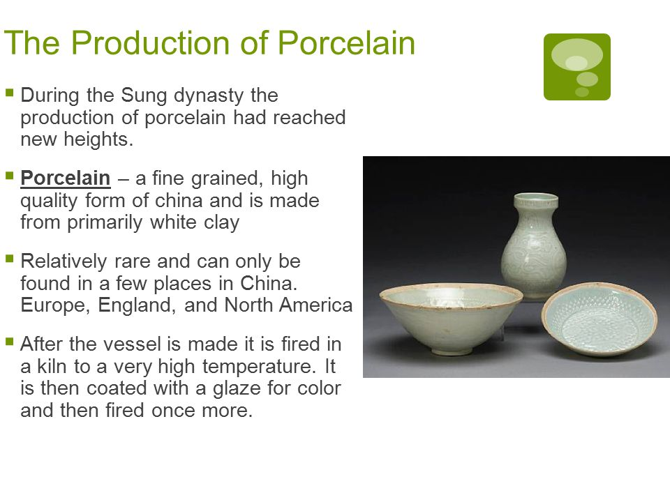 The Production of Porcelain