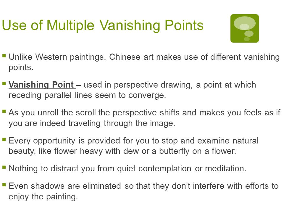 Use of Multiple Vanishing Points