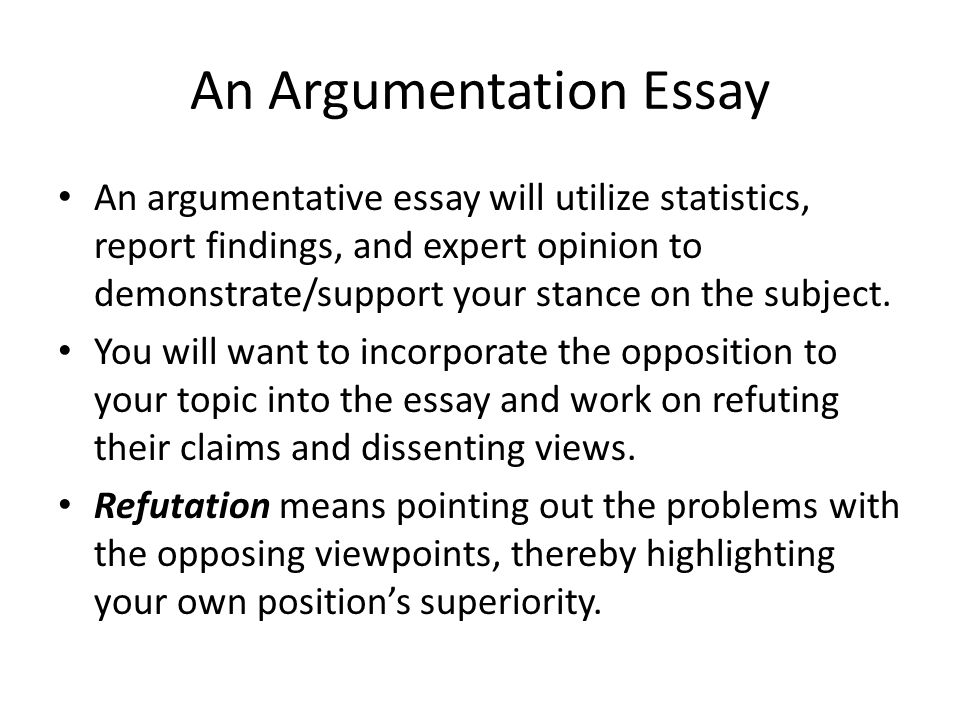 argumentation persuasion ppt video online  an argumentation essay