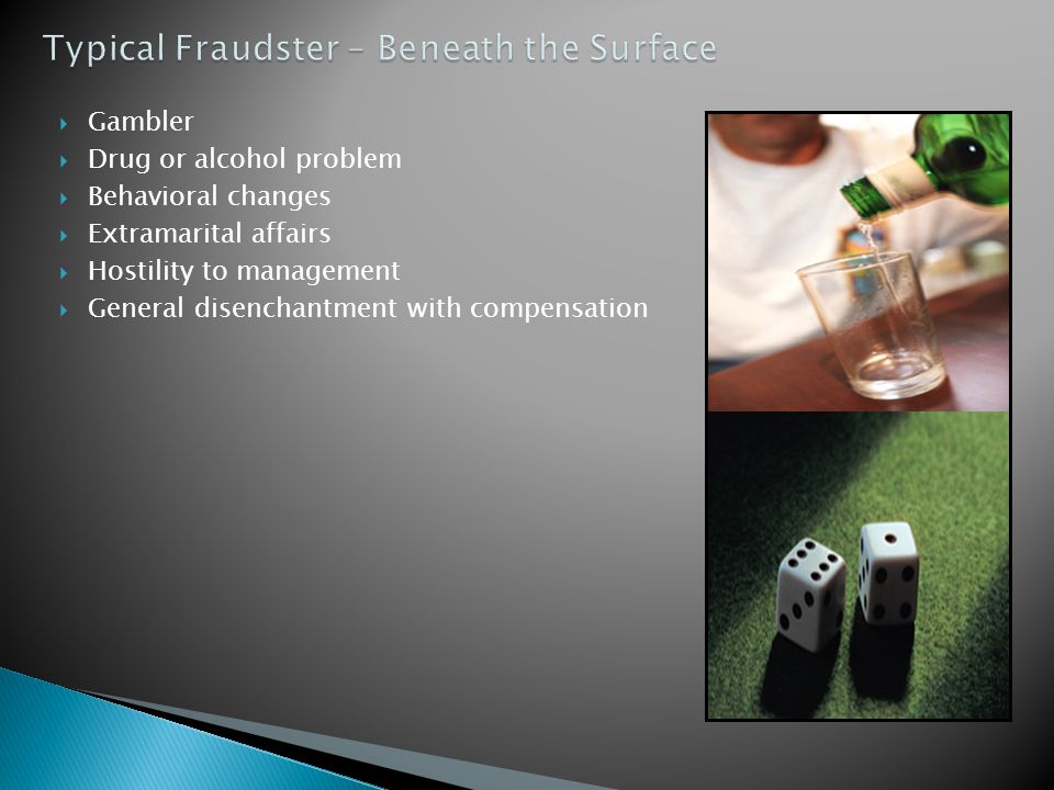 Typical Fraudster – Beneath the Surface
