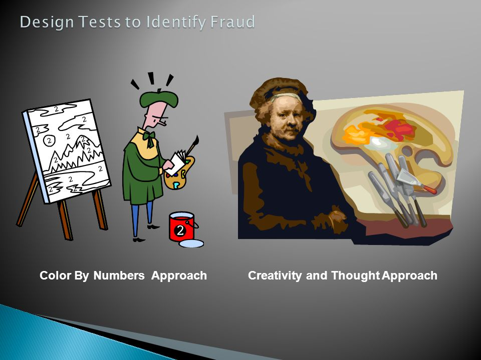 Design Tests to Identify Fraud