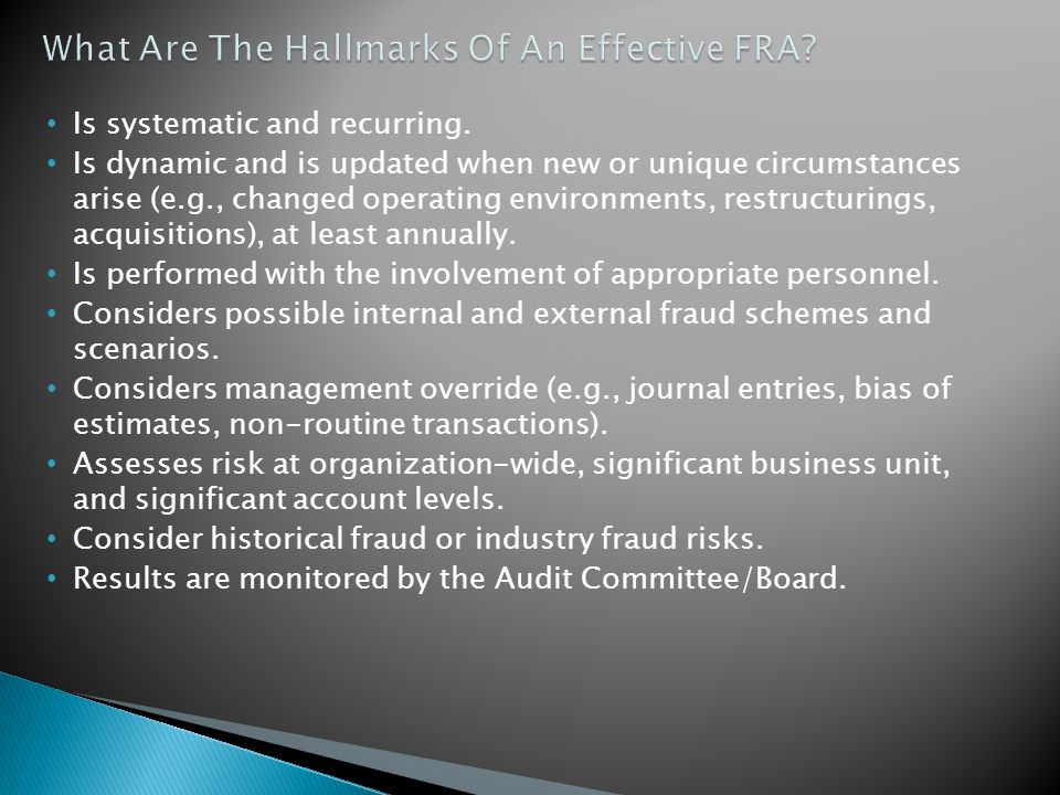 What Are The Hallmarks Of An Effective FRA