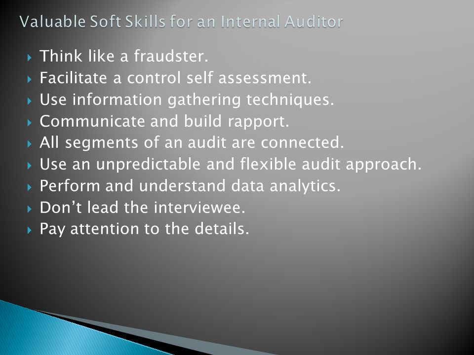 Valuable Soft Skills for an Internal Auditor