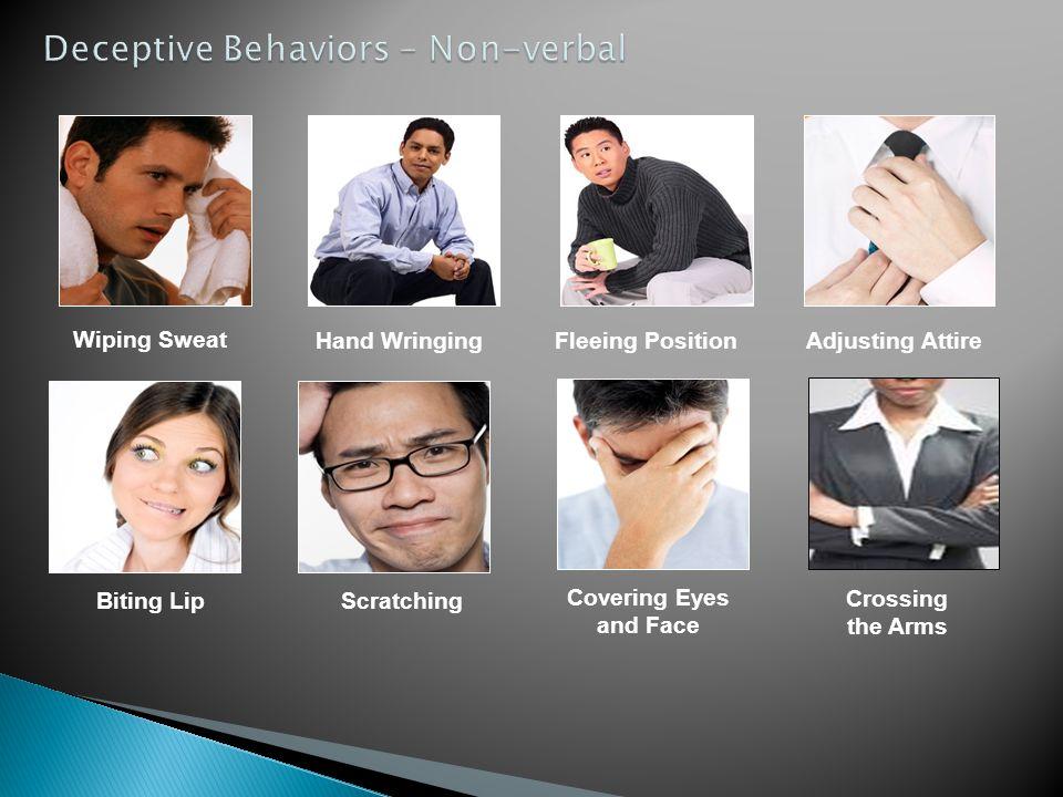 Deceptive Behaviors – Non-verbal