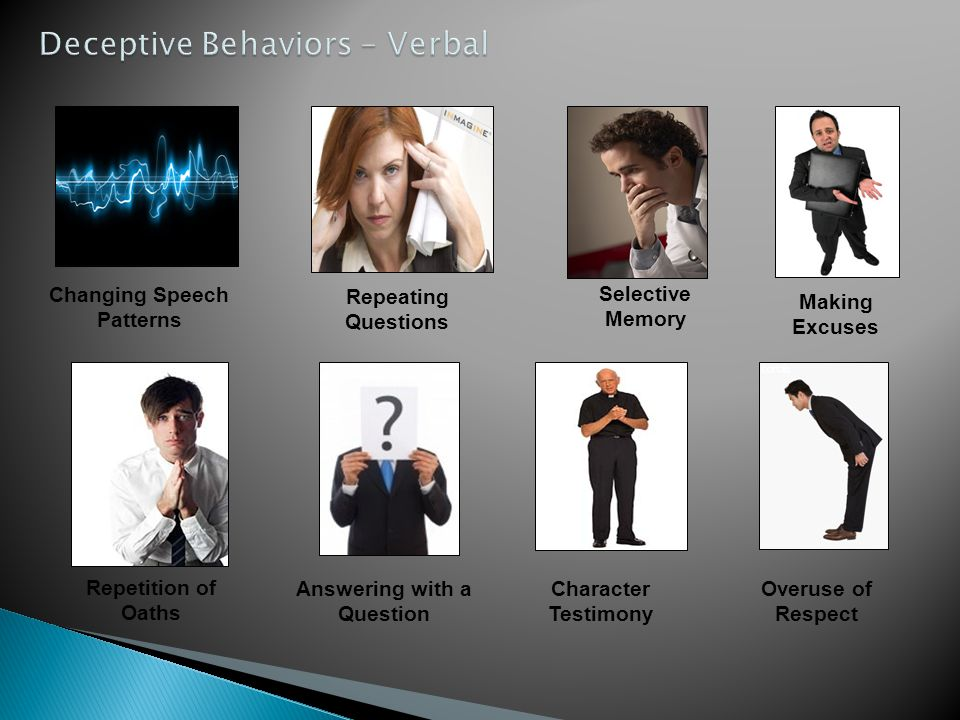 Deceptive Behaviors – Verbal