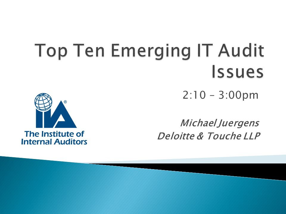 Top Ten Emerging IT Audit Issues