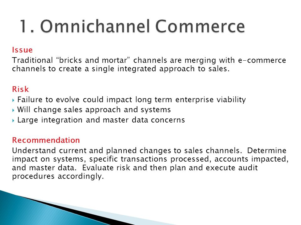 1. Omnichannel Commerce Issue