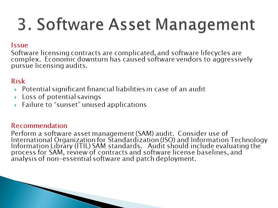 3. Software Asset Management