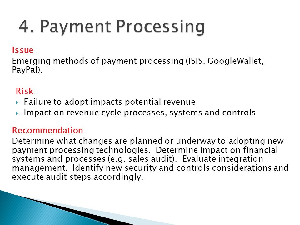 4. Payment Processing Issue
