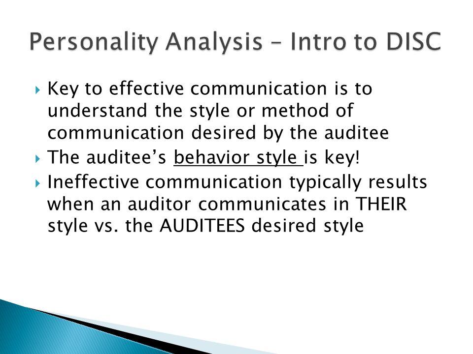 Personality Analysis – Intro to DISC