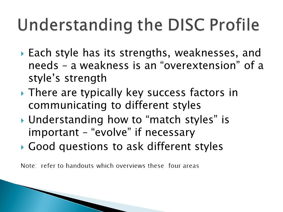Understanding the DISC Profile