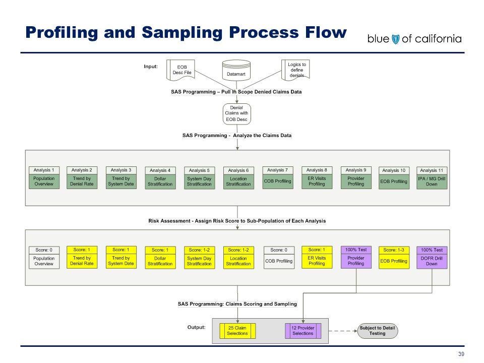 Profiling and Sampling Process Flow