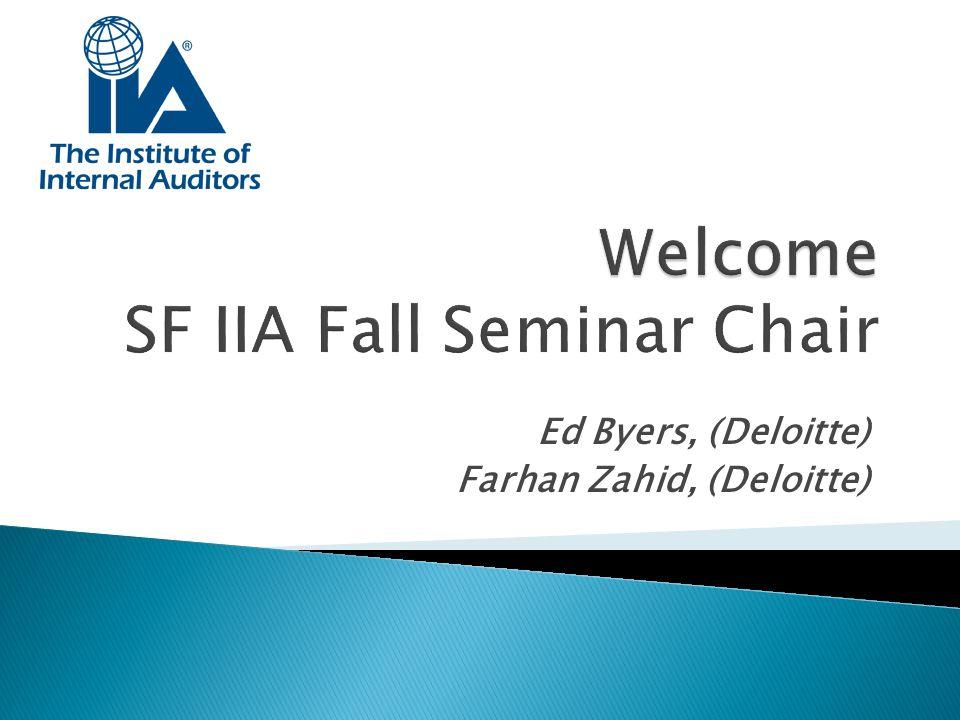 Welcome SF IIA Fall Seminar Chair