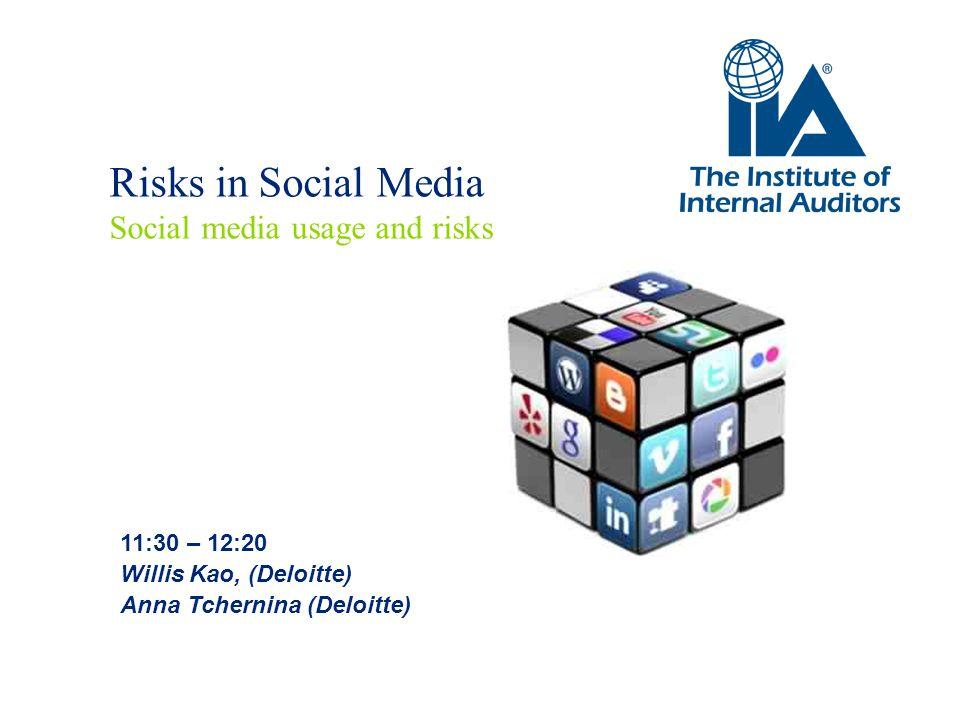 Risks in Social Media Social media usage and risks