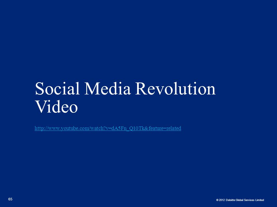 Social Media Revolution Video http://www. youtube. com/watch