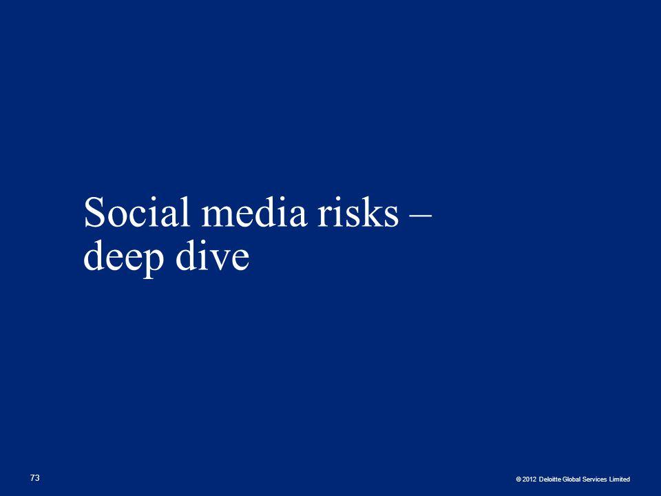 Social media risks – deep dive