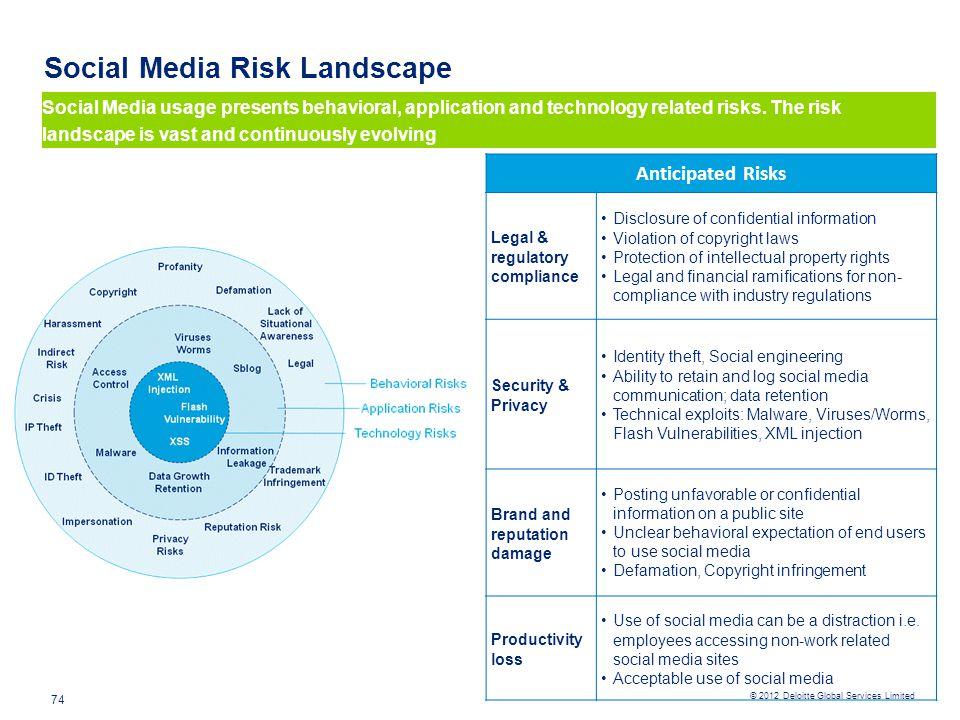 Social Media Risk Landscape