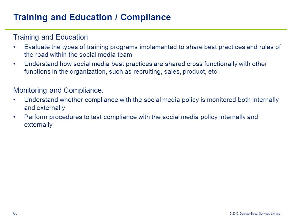 Training and Education / Compliance