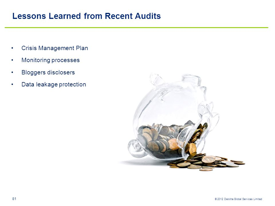 Lessons Learned from Recent Audits