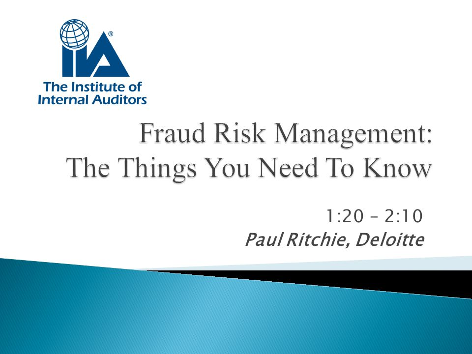 Fraud Risk Management: The Things You Need To Know