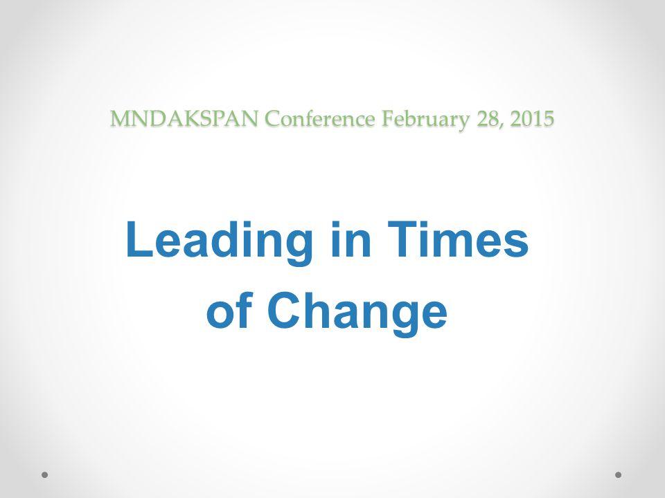 MNDAKSPAN Conference February 28, 2015