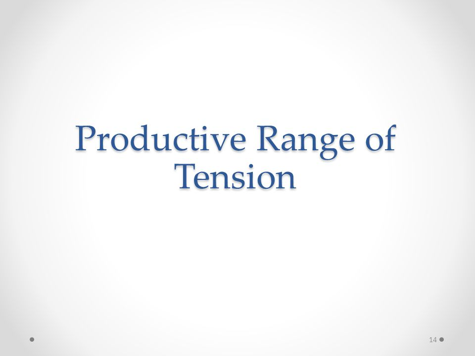 Productive Range of Tension