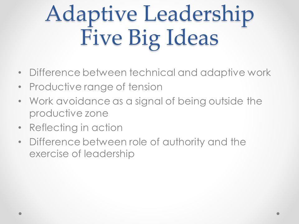 Adaptive Leadership Five Big Ideas
