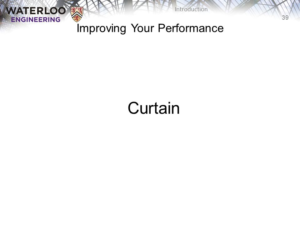 Improving Your Performance