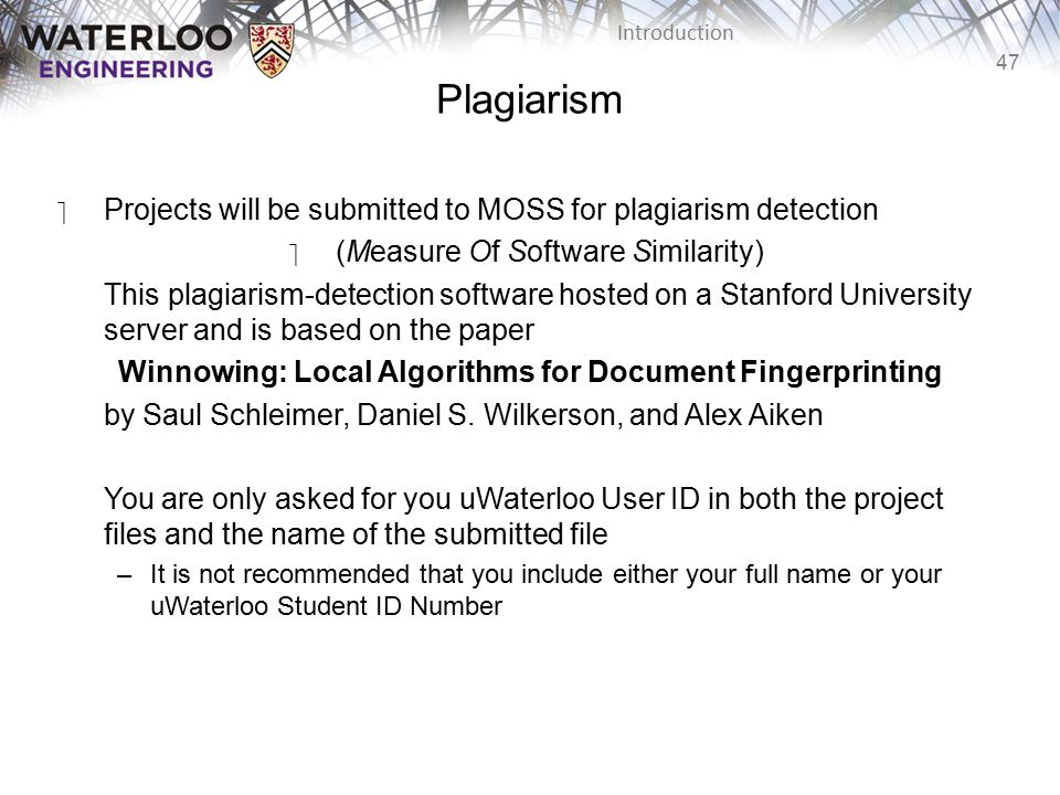 Winnowing: Local Algorithms for Document Fingerprinting