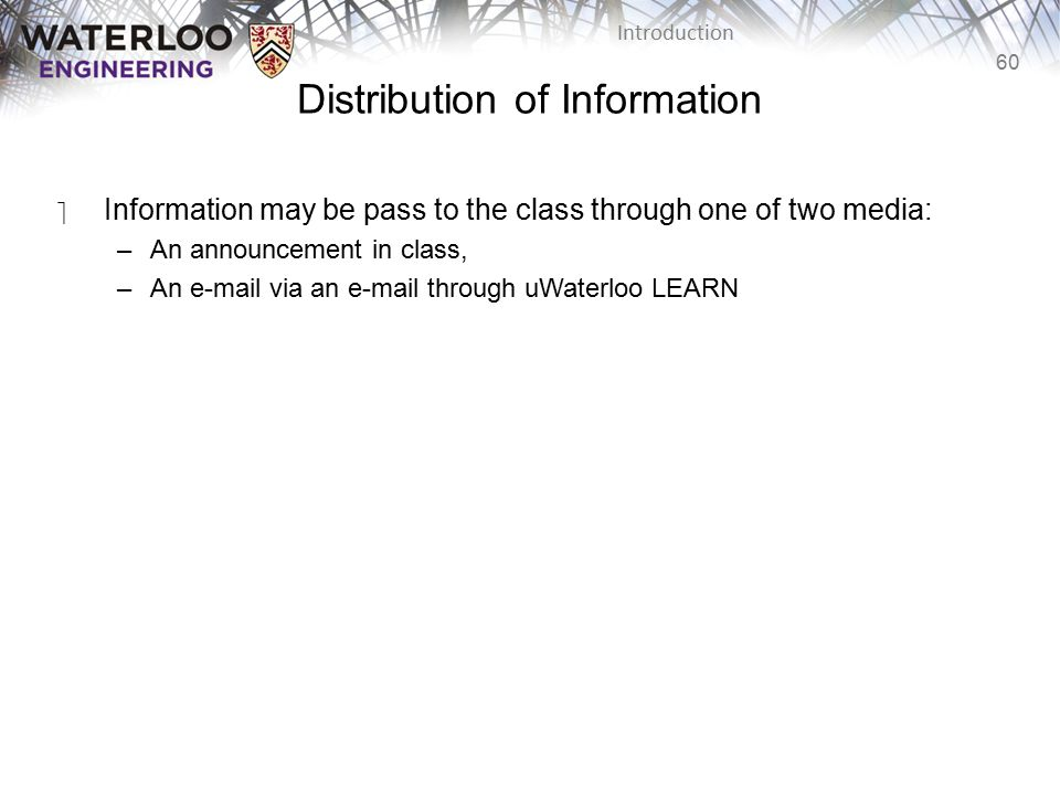 Distribution of Information