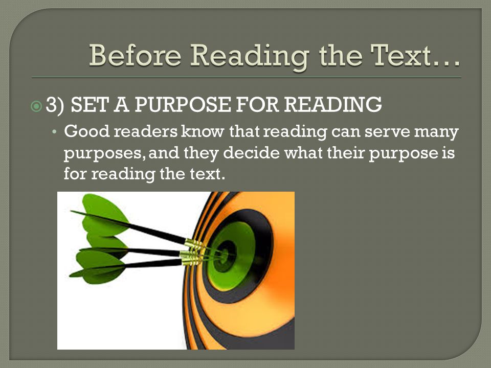 Before Reading the Text…