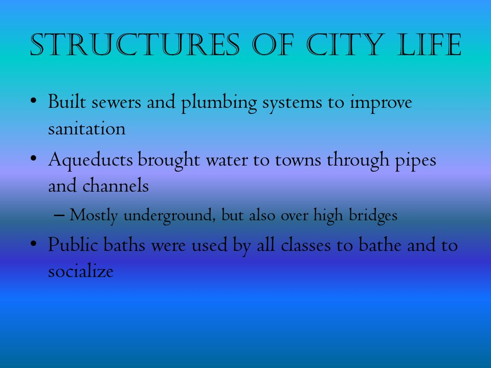 Structures of City Life
