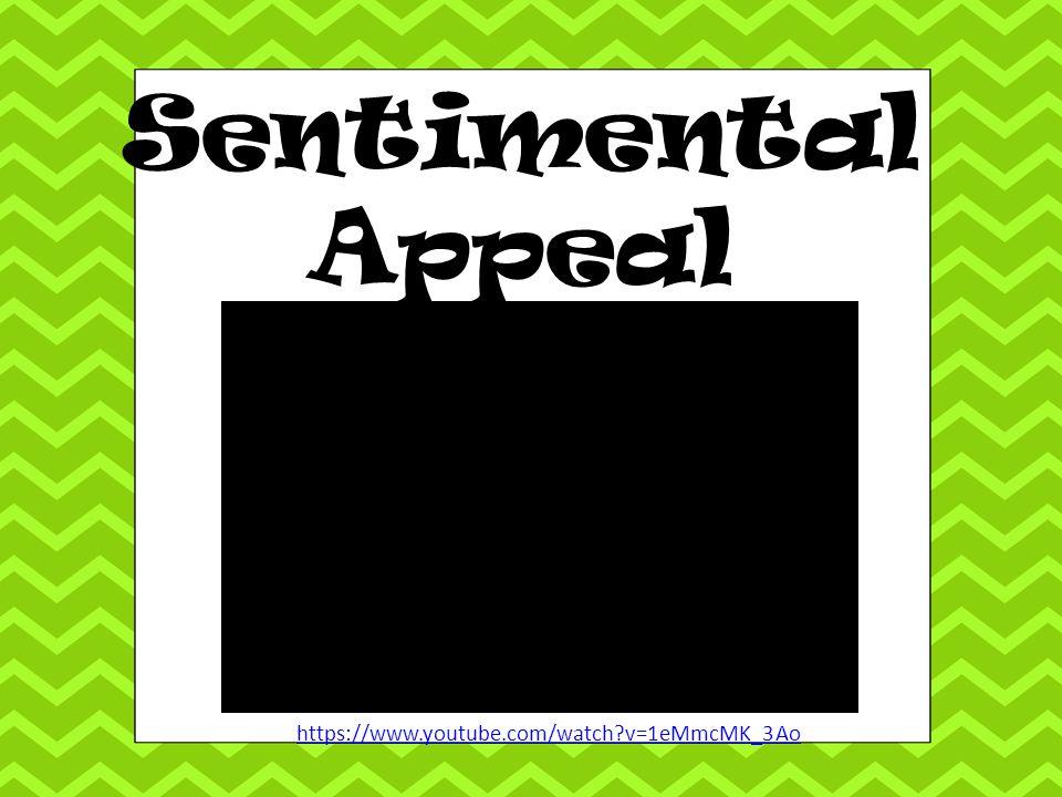 Sentimental Appeal https://www.youtube.com/watch v=1eMmcMK_3Ao