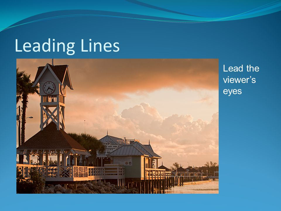 Leading Lines Lead the viewer's eyes