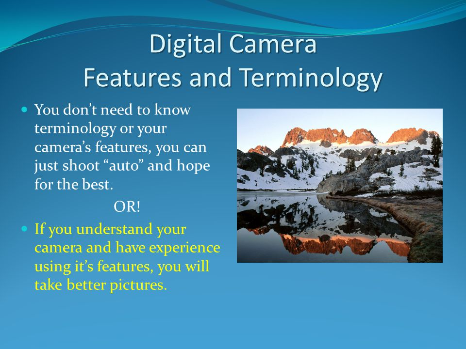 Digital Camera Features and Terminology