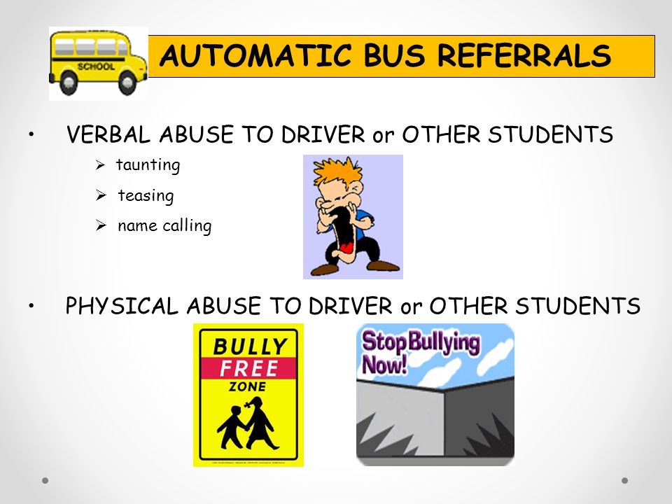 AUTOMATIC BUS REFERRALS