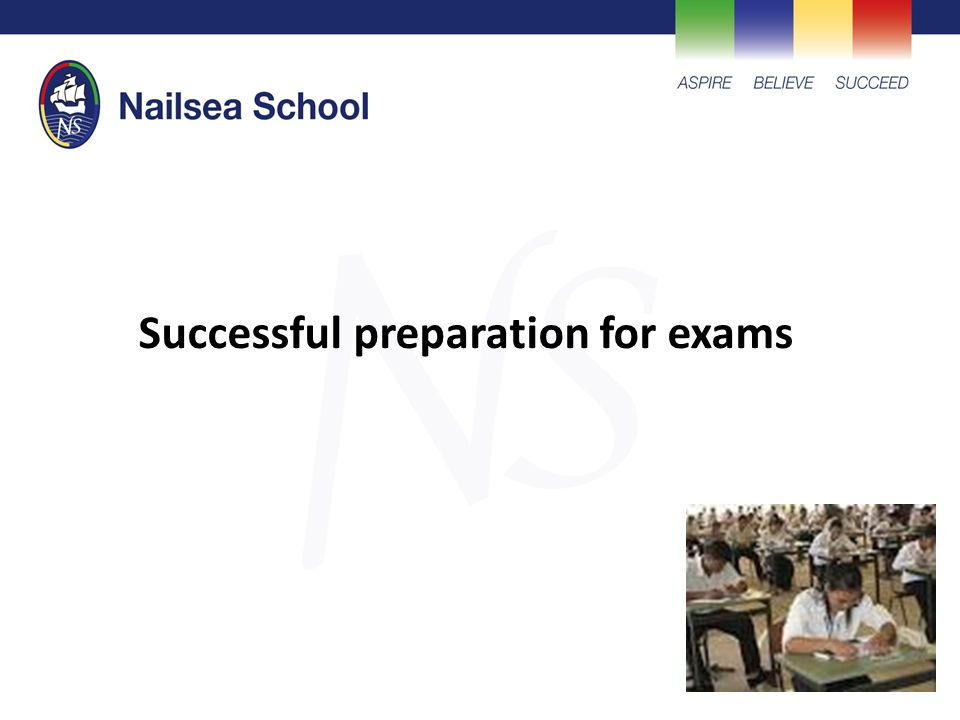 Successful preparation for exams