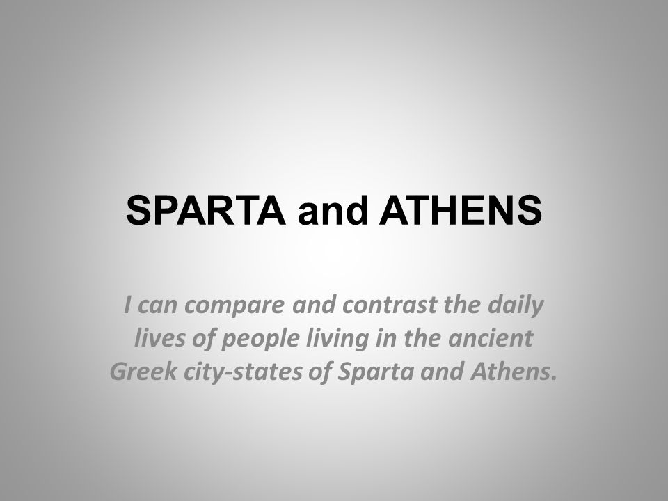 a comparison of athens and sparta the two major city states in ancient greece This is a brief overview of some differences between the city-states of athens and sparta in ancient greece disclaimer: as much as i desire to share as much as i can about the topics in the.