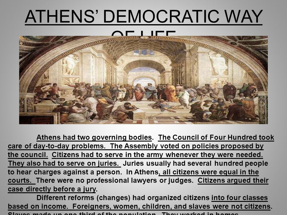 ATHENS' DEMOCRATIC WAY OF LIFE