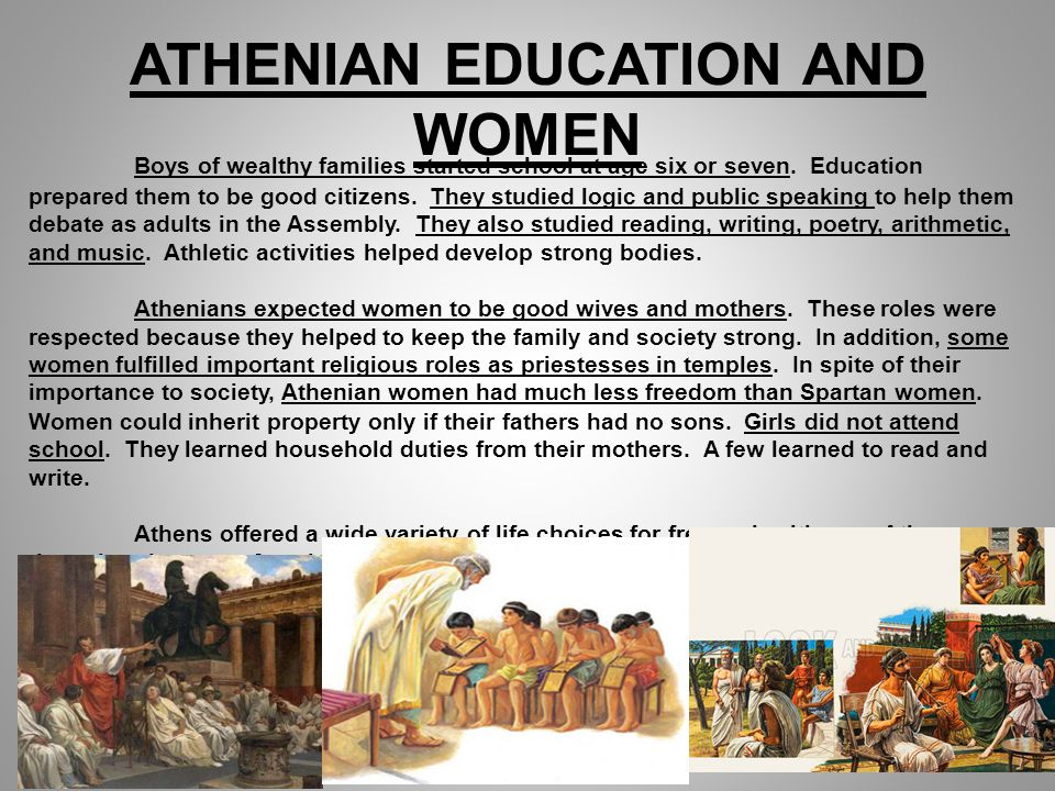ATHENIAN EDUCATION AND WOMEN