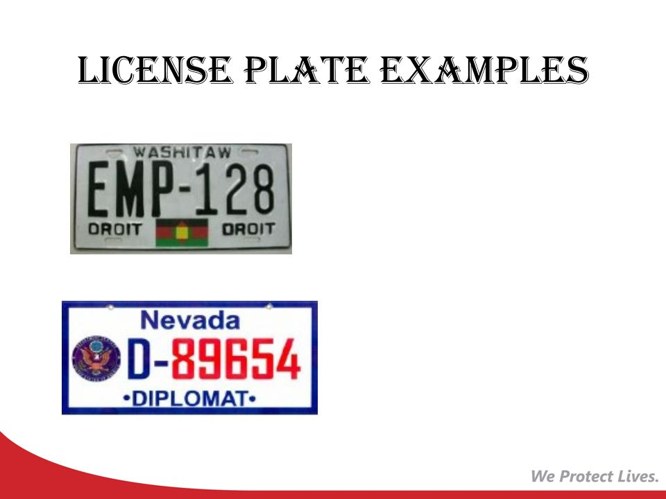 License Plate Examples
